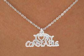 <bR>               EXCLUSIVELY OURS!!<BR>  CLICK HERE TO SEE 500+ EXCITING<BR>   CHANGES THAT YOU CAN MAKE!<BR>              LEAD & NICKEL FREE!!<BR>    W792SN - I LOVE MY CONSTABLE <Br>     & NECKLACE FROM $4.50 TO $8.35