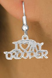 <bR>             EXCLUSIVELY OURS!!<BR>            LEAD & NICKEL FREE!!<BR>  W793SE - I LOVE MY TROOPER <Br>       �2014        EARRING  $8.68