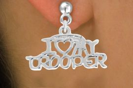 <bR>             EXCLUSIVELY OURS!!<BR>CLICK HERE TO SEE 500+ EXCITING<BR> CHANGES THAT YOU CAN MAKE!<BR>            LEAD & NICKEL FREE!!<BR>  W793SE - I LOVE MY TROOPER <Br>   & EARRING FROM $4.50 TO $8.35