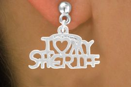 <bR>             EXCLUSIVELY OURS!!<BR>CLICK HERE TO SEE 500+ EXCITING<BR> CHANGES THAT YOU CAN MAKE!<BR>            LEAD & NICKEL FREE!!<BR>  W795SE - I LOVE MY SHERIFF <Br>   & EARRING FROM $4.50 TO $8.35