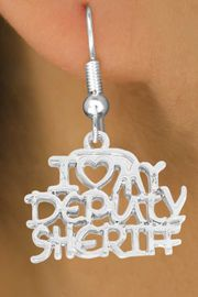 <bR>             EXCLUSIVELY OURS!!<BR>CLICK HERE TO SEE 500+ EXCITING<BR> CHANGES THAT YOU CAN MAKE!<BR>            LEAD & NICKEL FREE!!<BR>W796SE - I LOVE MY DEPUTY SHERIFF<Br>   & EARRING FROM $4.50 TO $8.35