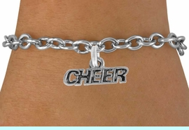 """<bR>               EXCLUSIVELY OURS!!<BR>  CLICK HERE TO SEE 600+ EXCITING<BR>   CHANGES THAT YOU CAN MAKE!<BR>               LEAD & NICKEL FREE!!<BR>        W911SB - """"CHEER"""" CHARM & <Br>   BRACELET FROM  $5.15 TO $9.00"""