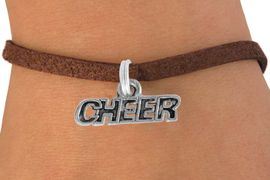 "<bR>               EXCLUSIVELY OURS!!<BR>  CLICK HERE TO SEE 600+ EXCITING<BR>   CHANGES THAT YOU CAN MAKE!<BR>               LEAD & NICKEL FREE!!<BR>        W911SB - ""CHEER"" CHARM & <Br>   BRACELET FROM  $5.15 TO $9.00"