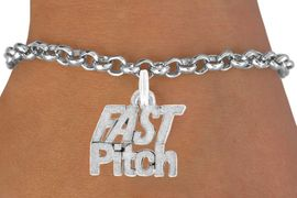 "<bR>               EXCLUSIVELY OURS!!<BR>  CLICK HERE TO SEE 600+ EXCITING<BR>   CHANGES THAT YOU CAN MAKE!<BR>               LEAD & NICKEL FREE!!<BR>      W912SB - ""FAST PITCH"" CHARM & <Br>       BRACELET FROM  $5.15 TO $9.00"