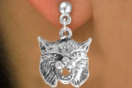 <bR>               EXCLUSIVELY OURS!!<BR>CLICK HERE TO SEE 65+ EXCITING<BR>  CHANGES THAT YOU CAN MAKE!<BR>             LEAD & NICKEL FREE!!<BR>   W206SE - BOBCAT & EARRING<Br>                  FROM $4.50 TO $8.35