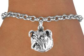 <bR>             EXCLUSIVELY OURS!!<BR>CLICK HERE TO SEE 65+ EXCITING<BR> CHANGES THAT YOU CAN MAKE!<BR>             LEAD & NICKEL FREE!!<BR>W212SB - BULLDOG & BRACELET<Br>                  AS LOW AS $4.50