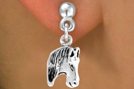<bR>                EXCLUSIVELY OURS!!<BR>  CLICK HERE TO SEE 65+ EXCITING<BR>   CHANGES THAT YOU CAN MAKE!<BR>               LEAD & NICKEL FREE!!<BR>W215SE - HORSE HEAD & EARRING<BR>                   FROM $4.50 TO $8.35