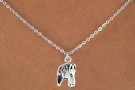 <bR>                EXCLUSIVELY OURS!!<BR>   CLICK HERE TO SEE 65+ EXCITING<BR>    CHANGES THAT YOU CAN MAKE!<BR>               LEAD & NICKEL FREE!!<BR>W215SN - HORSE HEAD & NECKLACE<BR>                    AS LOW AS $4.50