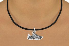 """<bR>              EXCLUSIVELY OURS!!<BR>CLICK HERE TO SEE 65+ EXCITING<BR> CHANGES THAT YOU CAN MAKE!<BR>            LEAD & NICKEL FREE!!<BR>     W219SN - """"I LOVE RUNNING""""<br>   & NECKLACE AS LOW AS $4.50"""