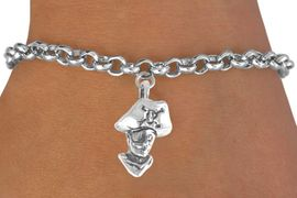 <bR>              EXCLUSIVELY OURS!!<BR>CLICK HERE TO SEE 65+ EXCITING<BR> CHANGES THAT YOU CAN MAKE!<BR>             LEAD & NICKEL FREE!!<BR>        W220SB - PIRATE HEAD &<Br>      BRACELET AS LOW AS $4.50