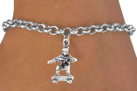 <bR>              EXCLUSIVELY OURS!!<BR>CLICK HERE TO SEE 65+ EXCITING<BR>  CHANGES THAT YOU CAN MAKE!<BR>              LEAD & NICKEL FREE!!<BR>     W228SB - SKATEBOARDER &<Br>       BRACELET AS LOW AS $4.50