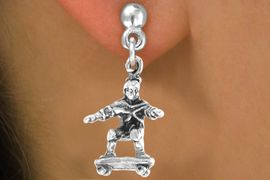 <bR>               EXCLUSIVELY OURS!!<BR>CLICK HERE TO SEE 65+ EXCITING<BR>  CHANGES THAT YOU CAN MAKE!<BR>              LEAD & NICKEL FREE!!<BR>     W228SE - SKATEBOARDER & <Br>       EARRING FROM $4.50 TO $8.35