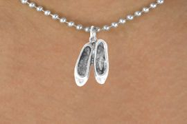 <bR>              EXCLUSIVELY OURS!!<BR>CLICK HERE TO SEE 65+ EXCITING<BR> CHANGES THAT YOU CAN MAKE!<BR>            LEAD & NICKEL FREE!!<BR>W232SN - BALLERINA SLIPPERS<br>   & NECKLACE AS LOW AS $4.50