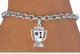 """<bR>              EXCLUSIVELY OURS!!<BR>CLICK HERE TO SEE 65+ EXCITING<BR> CHANGES THAT YOU CAN MAKE!<BR>             LEAD & NICKEL FREE!!<BR>        W233SB - """"#1"""" TROPHY &<Br>      BRACELET AS LOW AS $4.50"""