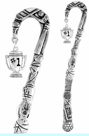 "<bR>              EXCLUSIVELY OURS!!<BR>CLICK HERE TO SEE 65+ EXCITING<BR> CHANGES THAT YOU CAN MAKE!<BR>             LEAD & NICKEL FREE!!<BR>W233SBM - ""#1"" TROPHY CHARM<Br>BOOKMARK FROM $3.31 TO $6.25"