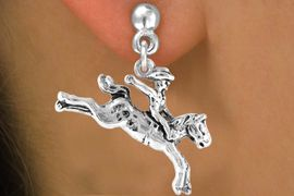 """<bR>              EXCLUSIVELY OURS!!<BR>CLICK HERE TO SEE 65+ EXCITING<BR> CHANGES THAT YOU CAN MAKE!<BR>            LEAD & NICKEL FREE!!<BR>    W235SE - """"BRONCO BUSTER""""<Br>    & EARRING FROM $4.50 TO $8.35"""