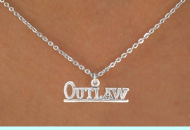 """<bR>                EXCLUSIVELY OURS!!<BR>  CLICK HERE TO SEE 65+ EXCITING<BR>    CHANGES THAT YOU CAN MAKE!<BR>               LEAD & NICKEL FREE!!<BR>W237SN - """"OUTLAW"""" & NECKLACE<Br>                    AS LOW AS $4.50"""