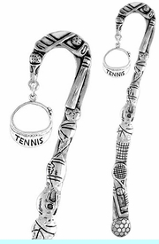 """<bR>              EXCLUSIVELY OURS!!<BR>CLICK HERE TO SEE 65+ EXCITING<BR> CHANGES THAT YOU CAN MAKE!<BR>             LEAD & NICKEL FREE!!<BR>  W239SBM - """"TENNIS"""" VISOR &<Br>BOOKMARK FROM $3.31 TO $6.25"""