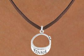 "<bR>                EXCLUSIVELY OURS!!<BR>  CLICK HERE TO SEE 65+ EXCITING<BR>    CHANGES THAT YOU CAN MAKE!<BR>               LEAD & NICKEL FREE!!<BR>W239SN - ""TENNIS"" VISOR CHARM<Br>      & NECKLACE AS LOW AS $4.50"