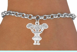 <bR>                 EXCLUSIVELY OURS!!<BR>   CLICK HERE TO SEE 65+ EXCITING<BR>    CHANGES THAT YOU CAN MAKE!<BR>                LEAD & NICKEL FREE!!<BR>W251SB - POM-POM CHEERLEADER<Br>       & BRACELET AS LOW AS $4.50