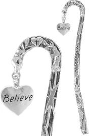 "<bR>              EXCLUSIVELY OURS!!<BR>CLICK HERE TO SEE 65+ EXCITING<BR>  CHANGES THAT YOU CAN MAKE!<BR>             LEAD & NICKEL FREE!!<BR> W263SBM - ""BELIEVE"" HEART &<Br>BOOKMARK FROM $3.31 TO $6.25"