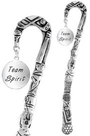 "<bR>              EXCLUSIVELY OURS!!<BR>CLICK HERE TO SEE 65+ EXCITING<BR>  CHANGES THAT YOU CAN MAKE!<BR>             LEAD & NICKEL FREE!!<BR>W286SBM -  ""TEAM SPIRIT"" DISC<Br>BOOKMARK FROM $3.31 TO $6.25"