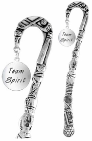 """<bR>              EXCLUSIVELY OURS!!<BR>CLICK HERE TO SEE 65+ EXCITING<BR>  CHANGES THAT YOU CAN MAKE!<BR>             LEAD & NICKEL FREE!!<BR>W286SBM -  """"TEAM SPIRIT"""" DISC<Br>BOOKMARK FROM $3.31 TO $6.25"""