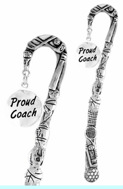 """<bR>              EXCLUSIVELY OURS!!<BR>CLICK HERE TO SEE 65+ EXCITING<BR>  CHANGES THAT YOU CAN MAKE!<BR>             LEAD & NICKEL FREE!!<BR>  W314SBM -  """"PROUD COACH"""" &<Br>BOOKMARK FROM $3.31 TO $6.25"""