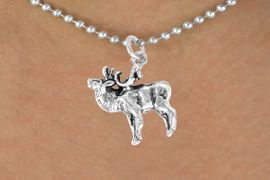 <bR>             EXCLUSIVELY OURS!!<BR>CLICK HERE TO SEE 65+ EXCITING<BR> CHANGES THAT YOU CAN MAKE!<BR>            LEAD & NICKEL FREE!!<BR> W366SN - MOOSE & NECKLACE<br>                  AS LOW AS $4.50
