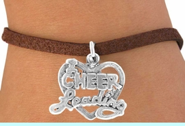 """<bR>              EXCLUSIVELY OURS!!<BR>CLICK HERE TO SEE 65+ EXCITING<BR>  CHANGES THAT YOU CAN MAKE!<BR>             LEAD & NICKEL FREE!!<BR>W367SB - """"I LOVE CHEERLEADING""""<Br>    & BRACELET AS LOW AS $4.50"""