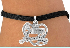 """<bR>               EXCLUSIVELY OURS!!<BR> CLICK HERE TO SEE 65+ EXCITING<BR>   CHANGES THAT YOU CAN MAKE!<BR>              LEAD & NICKEL FREE!!<BR>W367SB - """"I LOVE CHEERLEADING""""<Br>     & BRACELET AS LOW AS $4.50"""
