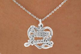"<bR>               EXCLUSIVELY OURS!!<BR>CLICK HERE TO SEE 65+ EXCITING<BR>  CHANGES THAT YOU CAN MAKE!<BR>              LEAD & NICKEL FREE!!<BR>W367SN - ""I LOVE CHEERLEADING""<br>     & NECKLACE AS LOW AS $4.50"
