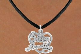 """<bR>               EXCLUSIVELY OURS!!<BR>CLICK HERE TO SEE 65+ EXCITING<BR>  CHANGES THAT YOU CAN MAKE!<BR>              LEAD & NICKEL FREE!!<BR>W367SN - """"I LOVE CHEERLEADING""""<br>     & NECKLACE AS LOW AS $4.50"""