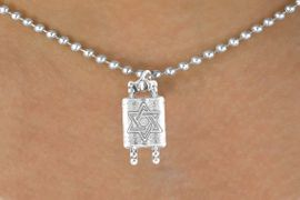 """<bR>             EXCLUSIVELY OURS!!<BR>CLICK HERE TO SEE 65+ EXCITING<BR> CHANGES THAT YOU CAN MAKE!<BR>             LEAD & NICKEL FREE!!<BR>   W371SN - """"TORAH SCROLLS"""" &<bR>   NECKLACE FROM $4.50 TO $8.35"""