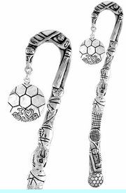 """<bR>              EXCLUSIVELY OURS!!<BR>CLICK HERE TO SEE 65+ EXCITING<BR>  CHANGES THAT YOU CAN MAKE!<BR>             LEAD & NICKEL FREE!!<BR>  W375SBM -  """"I LOVE SOCCER"""" &<Br>BOOKMARK FROM $3.31 TO $6.25"""