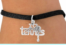 """<bR>              EXCLUSIVELY OURS!!<BR>CLICK HERE TO SEE 65+ EXCITING<BR>  CHANGES THAT YOU CAN MAKE!<BR>             LEAD & NICKEL FREE!!<BR>      W377SB - """"I LOVE TENNIS"""" &<BR>       BRACELET AS LOW AS $4.50"""