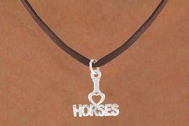 "<bR>             EXCLUSIVELY OURS!!<BR>CLICK HERE TO SEE 65+ EXCITING<BR> CHANGES THAT YOU CAN MAKE!<BR>             LEAD & NICKEL FREE!!<BR>    W379SN - ""I LOVE HORSES"" &<Br>       NECKLACE AS LOW AS $4.50"