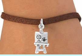 <bR>              EXCLUSIVELY OURS!!<BR>CLICK HERE TO SEE 65+ EXCITING<BR>  CHANGES THAT YOU CAN MAKE!<BR>             LEAD & NICKEL FREE!!<BR> W391SB - 3-D ARTIST'S EASEL &<BR>       BRACELET AS LOW AS $4.50