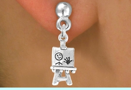 <bR>             EXCLUSIVELY OURS!!<BR>CLICK HERE TO SEE 65+ EXCITING<BR> CHANGES THAT YOU CAN MAKE!<BR>            LEAD & NICKEL FREE!!<BR> W391SE - 3-D ARTIST'S EASEL &<Br>        EARRING FROM $4.50 TO $8.35