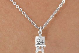 <bR>             EXCLUSIVELY OURS!!<BR>CLICK HERE TO SEE 65+ EXCITING<BR> CHANGES THAT YOU CAN MAKE!<BR>            LEAD & NICKEL FREE!!<BR> W391SN - 3-D ARTIST'S EASEL &<Br>      NECKLACE AS LOW AS $4.50