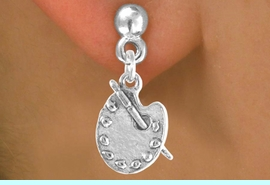 """<bR>             EXCLUSIVELY OURS!!<BR>CLICK HERE TO SEE 65+ EXCITING<BR> CHANGES THAT YOU CAN MAKE!<BR>            LEAD & NICKEL FREE!!<BR> W392SE - """"PAINTER'S PALETTE""""<Br>     & EARRING AS LOW AS $4.50"""