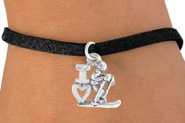 """<bR>             EXCLUSIVELY OURS!!<BR>CLICK HERE TO SEE 65+ EXCITING<BR> CHANGES THAT YOU CAN MAKE!<BR>            LEAD & NICKEL FREE!!<BR>    W396SB - """"I LOVE SKIING"""" &<BR>      BRACELET AS LOW AS $4.50"""