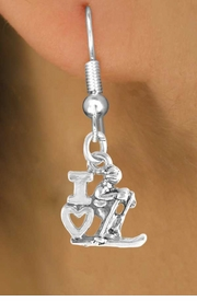 "<bR>             EXCLUSIVELY OURS!!<BR>CLICK HERE TO SEE 65+ EXCITING<BR> CHANGES THAT YOU CAN MAKE!<BR>            LEAD & NICKEL FREE!!<BR>       W396SE - ""I LOVE SKIING""<Br>     & EARRING FROM $4.50 TO $8.35"