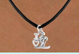 """<bR>             EXCLUSIVELY OURS!!<BR>CLICK HERE TO SEE 65+ EXCITING<BR> CHANGES THAT YOU CAN MAKE!<BR>            LEAD & NICKEL FREE!!<BR>    W396SN - """"I LOVE SKIING"""" &<Br>      NECKLACE AS LOW AS $4.50"""