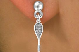 <bR>             EXCLUSIVELY OURS!!<BR>CLICK HERE TO SEE 65+ EXCITING<BR> CHANGES THAT YOU CAN MAKE!<BR>            LEAD & NICKEL FREE!!<BR>             W402SE - SQUASH <Br>             RACQUET & EARRING<bR>                 FROM $4.50 TO $8.35