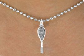 <bR>             EXCLUSIVELY OURS!!<BR>CLICK HERE TO SEE 65+ EXCITING<BR> CHANGES THAT YOU CAN MAKE!<BR>            LEAD & NICKEL FREE!!<BR>             W402SN - SQUASH<Br>           RACQUET & NECKLACE<Br>                 AS LOW AS $4.50