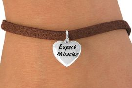 """<bR>             EXCLUSIVELY OURS!!<BR>CLICK HERE TO SEE 65+ EXCITING<BR> CHANGES THAT YOU CAN MAKE!<BR>            LEAD & NICKEL FREE!!<BR>W403SB - """"EXPECT MIRACLES"""" &<BR>  BRACELET FROM $4.50 TO $8.35"""