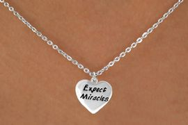 """<bR>              EXCLUSIVELY OURS!!<BR>CLICK HERE TO SEE 65+ EXCITING<BR>  CHANGES THAT YOU CAN MAKE!<BR>             LEAD & NICKEL FREE!!<BR>W403SN - """"EXPECT MIRACLES"""" &<Br>       NECKLACE AS LOW AS $4.50"""