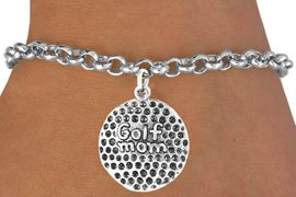 """<bR>             EXCLUSIVELY OURS!!<BR>CLICK HERE TO SEE 65+ EXCITING<BR> CHANGES THAT YOU CAN MAKE!<BR>            LEAD & NICKEL FREE!!<BR> W409SB - """"GOLF MOM"""" BALL &<BR>       BRACELET AS LOW AS $4.50"""