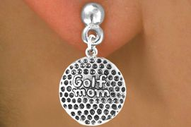 "<bR>             EXCLUSIVELY OURS!!<BR>CLICK HERE TO SEE 65+ EXCITING<BR> CHANGES THAT YOU CAN MAKE!<BR>            LEAD & NICKEL FREE!!<BR>    W409SE - ""GOLF MOM"" BALL<Br>      & EARRING FROM $4.50 TO $8.35"